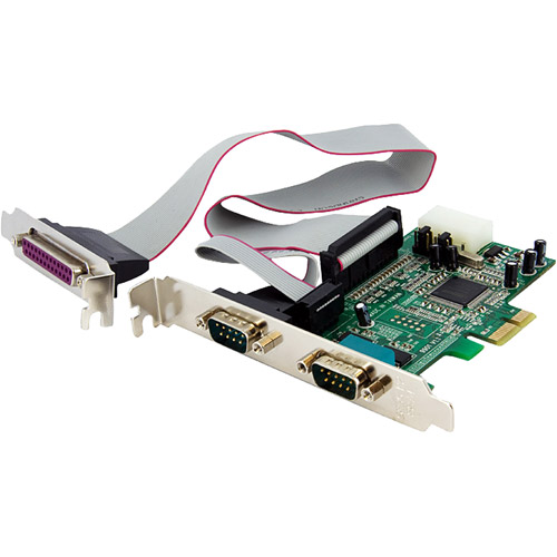 StarTech 2S1P Native PCI Express Parallel Serial Combo Card with 16550 UART