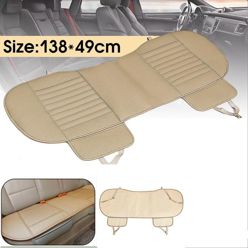 54''x19'' Universal Dustproof Waterproof PU Leather Bamboo Charcoal Auto Car Vehicle Interior Rear Seat Cover Cushion Pad