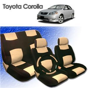 2001 2002 2003 2004 Toyota Corolla Synthetic Leather Seat Cover Set ALL FEES INCLUDED!