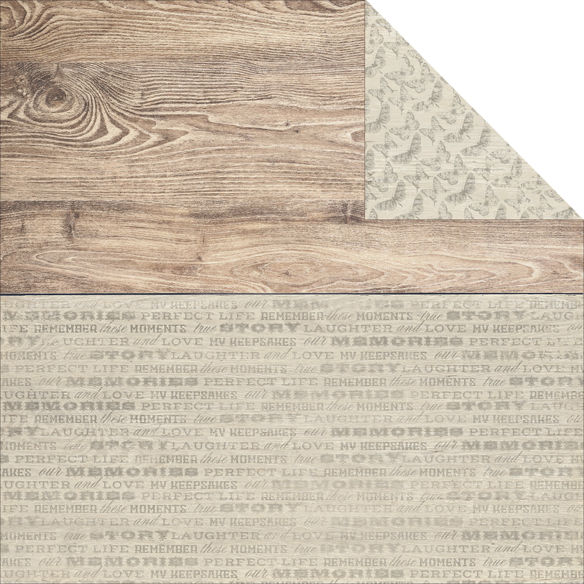 "Rustic Harmony Double-Sided Cardstock 12""X12""-Delightful"