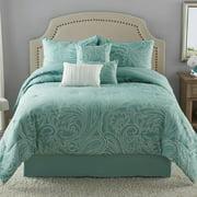 Mainstays Paisley Jacquard 7-Piece Bedding Comforter Set