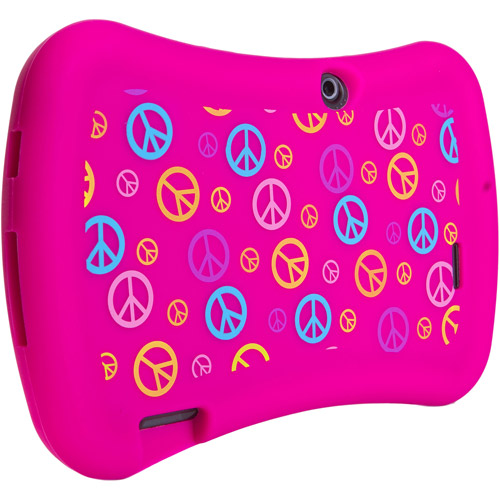 "7"" Tablet Universal Grip Safe Case, Pink Peace"