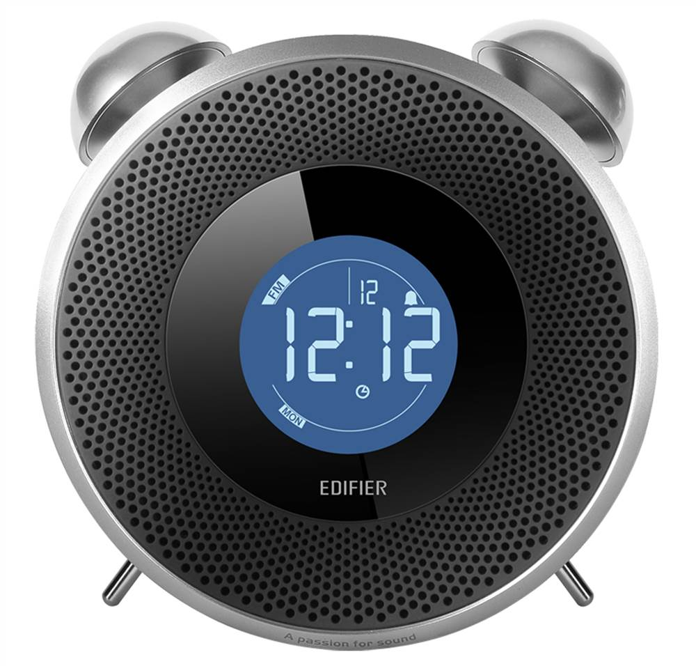 Tick Tock Retro-Styled Alarm Clock Bluetooth Receiver - Black