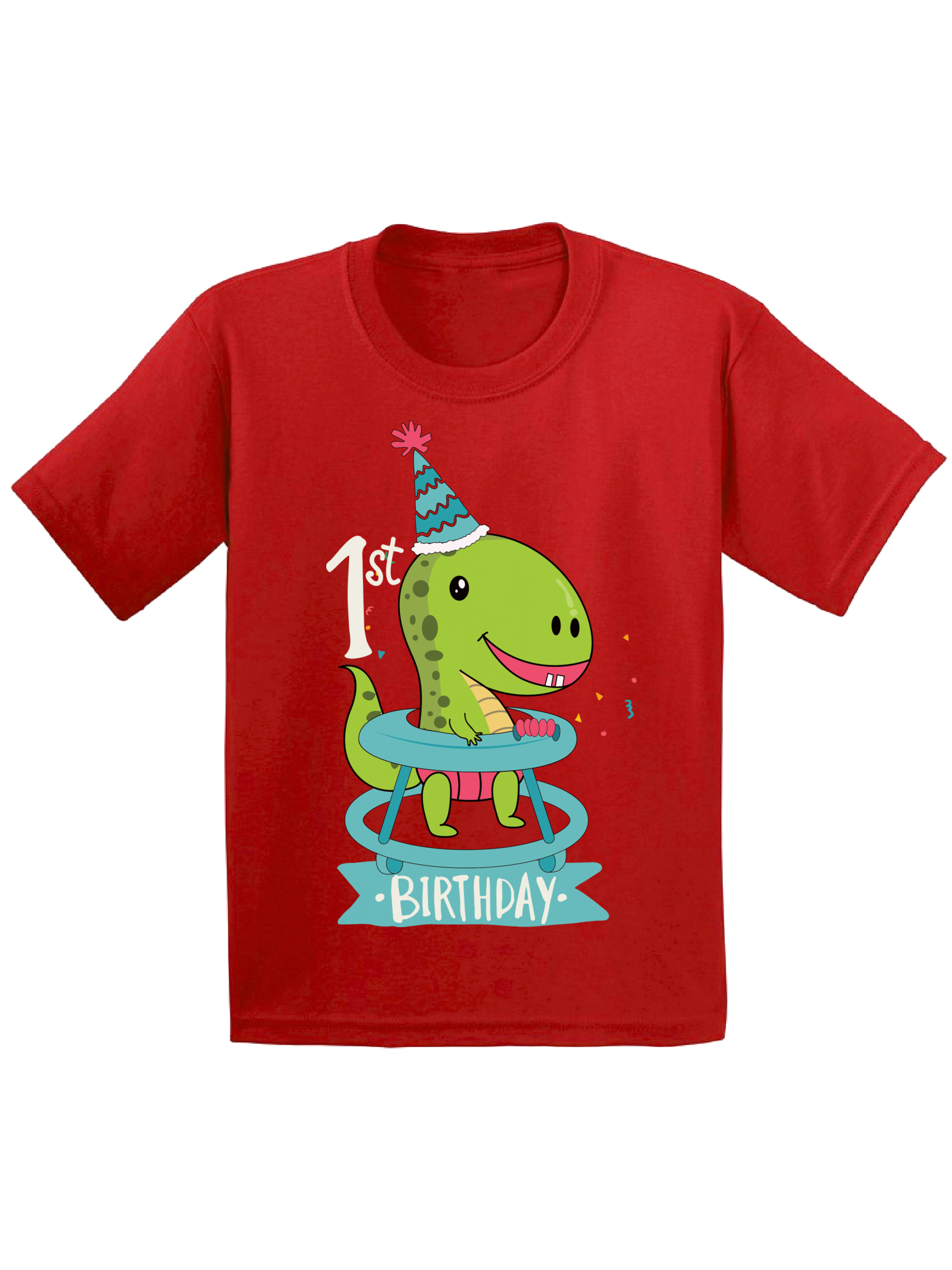 Birthday Tshirt For Baby 1st Infant Shirt First Gifts Dinosaur Boy Girl Shirts 1 Year Old