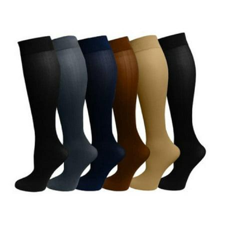 6 Pairs-Miracle Socks TV Socks Anti-venous Swollen Varicose Socks Compression Socks Nylon Socks Warm Elastic Stockings For Women - L/ XL - As seen on TV