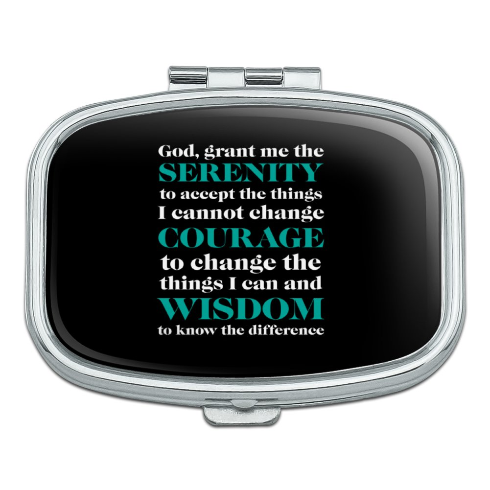 Serenity Prayer Courage Wisdom Rectangle Pill Case Trinket Gift Box