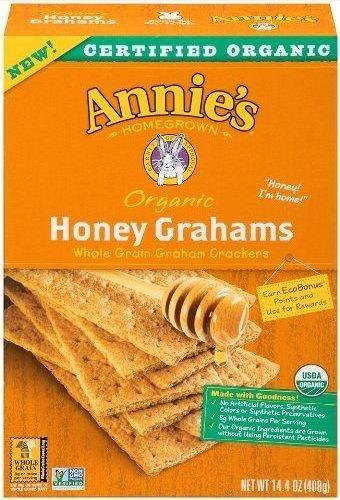 12 Pack : - Organic Honey Grahams - 14.4 Oz.