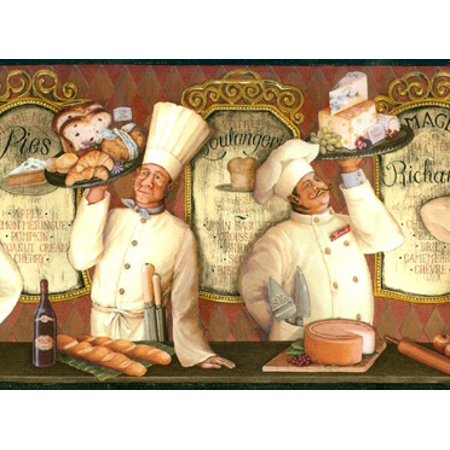 879305 French Chefs Wallpaper - Boy French Borders