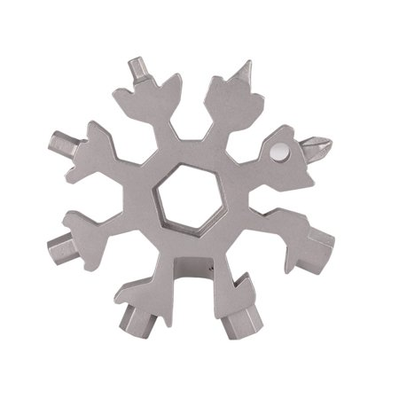 18-in-1 Multi-tool Combination Compact Portable Outdoor Snowflake Tool Card Spanner Tools (Card Multitool)