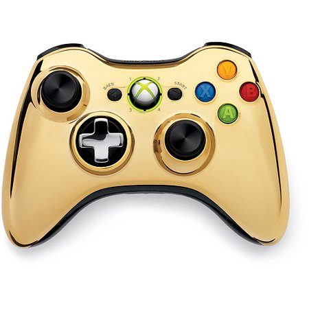Microsoft Xbox 360 Special Edition Chrome Series Wireless Controller ...