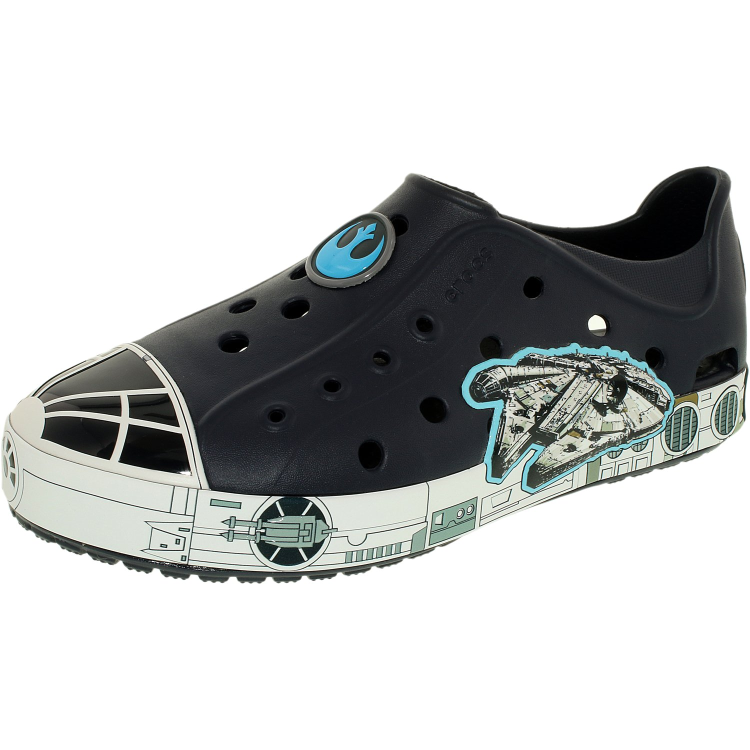 Crocs Boy's Kids Bump It Millennium Falcon Ankle-High Rubber Flat Shoe by Crocs