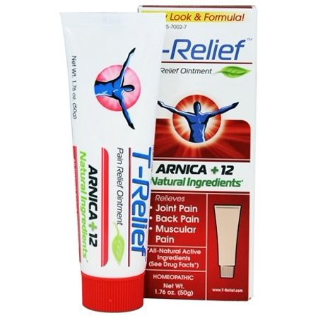 T-Relief Ointment Arnica +12 Natural Ingredients - 1.76 fl. oz. Formerly BHI/Heel - Traumeel Ointment by MediNatura (PACK OF 6)