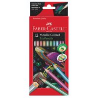 Metallic Colored EcoPencils - 12 Break Resistant Coloring Pencils, 12 METALLIC COLORED PENCILS - Add shimmer and shine to your projects with these metallic.., By Faber Castell