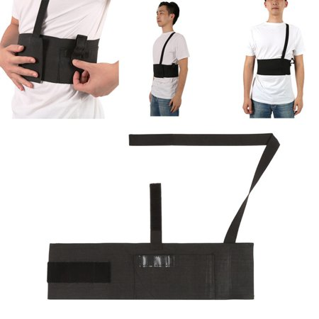 Outdoor Durable High Elastic Fabric Adjustable Concealed Belly Band Waist Shoulder Holster ()