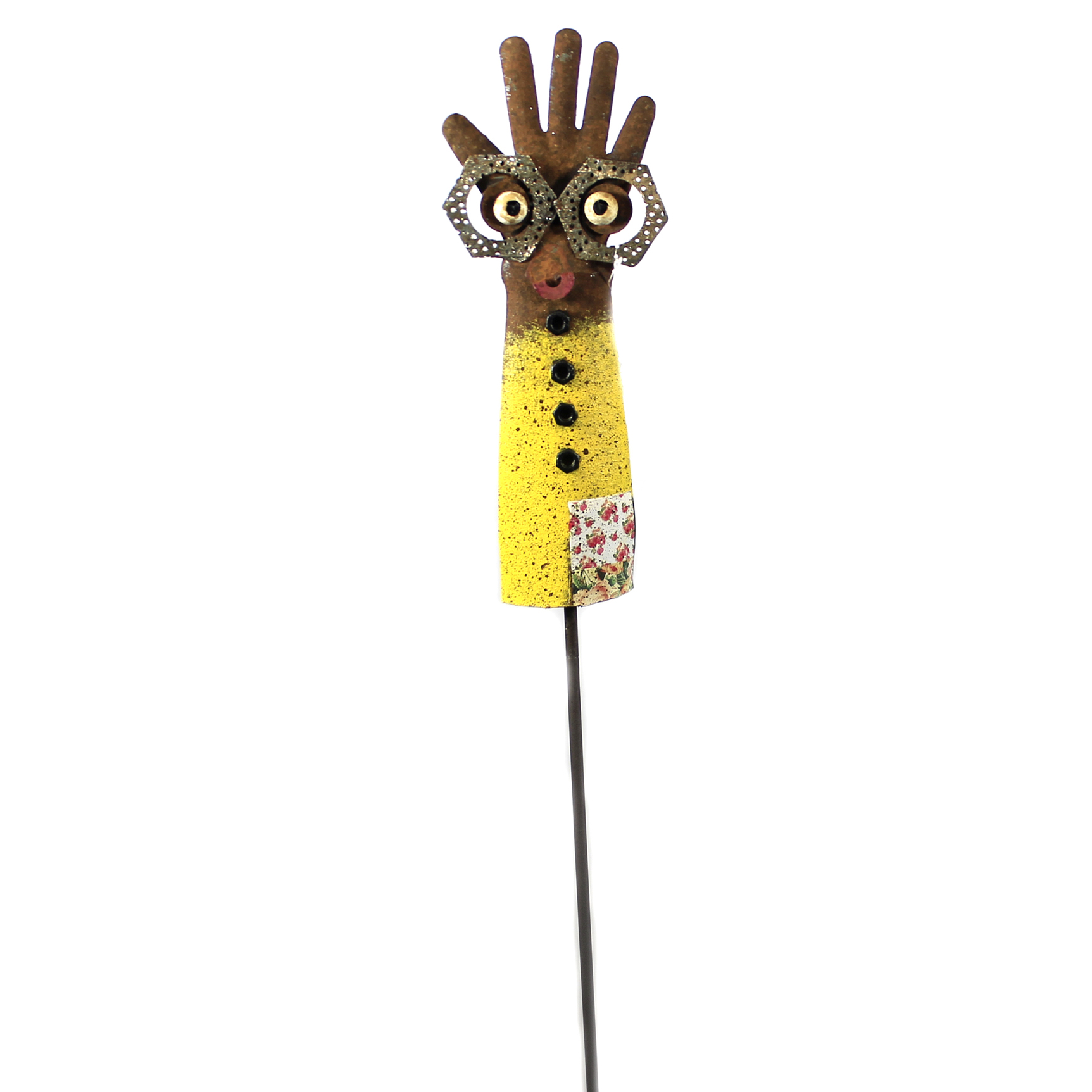 Regal Art  and  Gift 12207 - Yellow Groovy Glove Garden Stake Lawn Decor