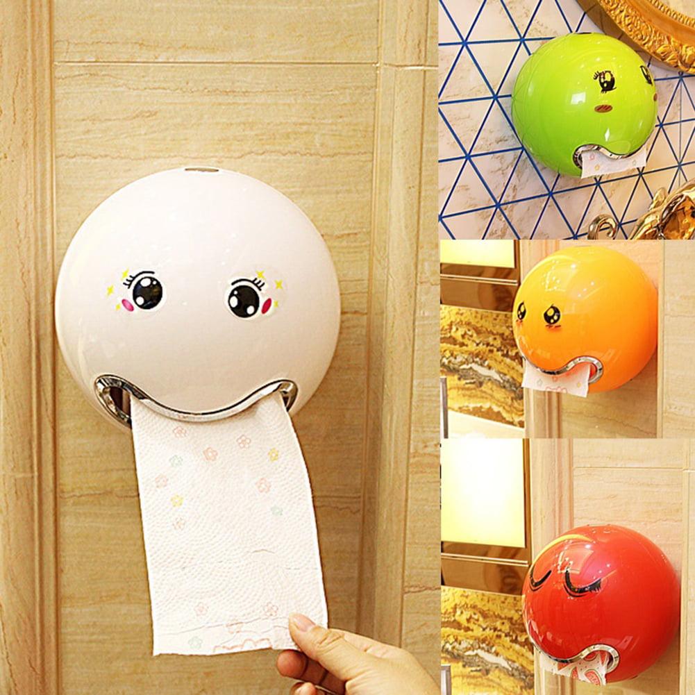 Moderna Ball Shaped Emoji Facial Tissue Bathroom Waterproof Toilet Roll Paper Box Holder