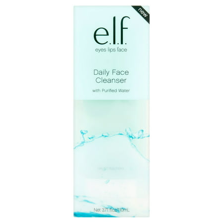 e.l.f. Daily Face Cleanser with Purified Water, 3.71 fl oz