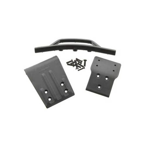 80022 Fr Bumper+Skid Plate Blk Slash 4x4 Multi-Colored