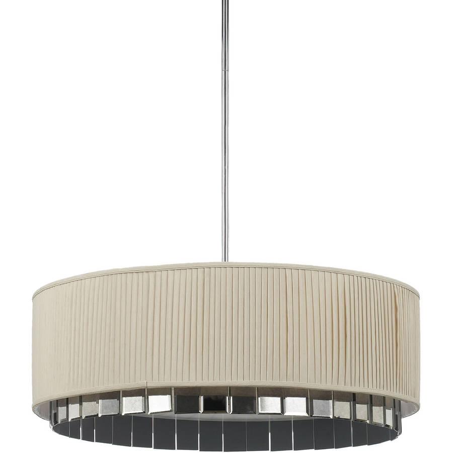 AF Lighting Garbo 4-Light Pendant with Ivory Shade