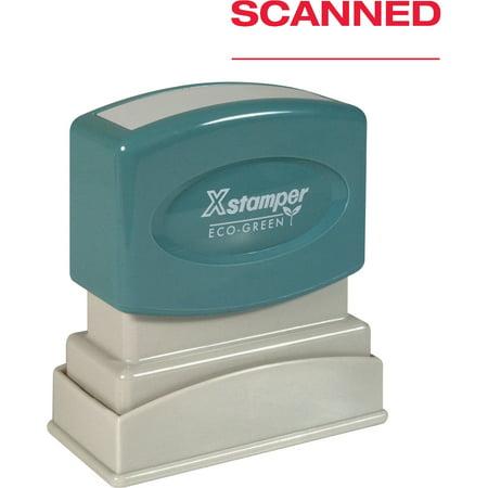 - Xstamper, XST1829, SCANNED Pre-inked Stamp, 1 Each
