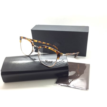 4d22034e25989 Persol Men Tortoise Square New Eyeglasses PO 3105 V M 1052 Madreterra 51  Metal - Walmart.com
