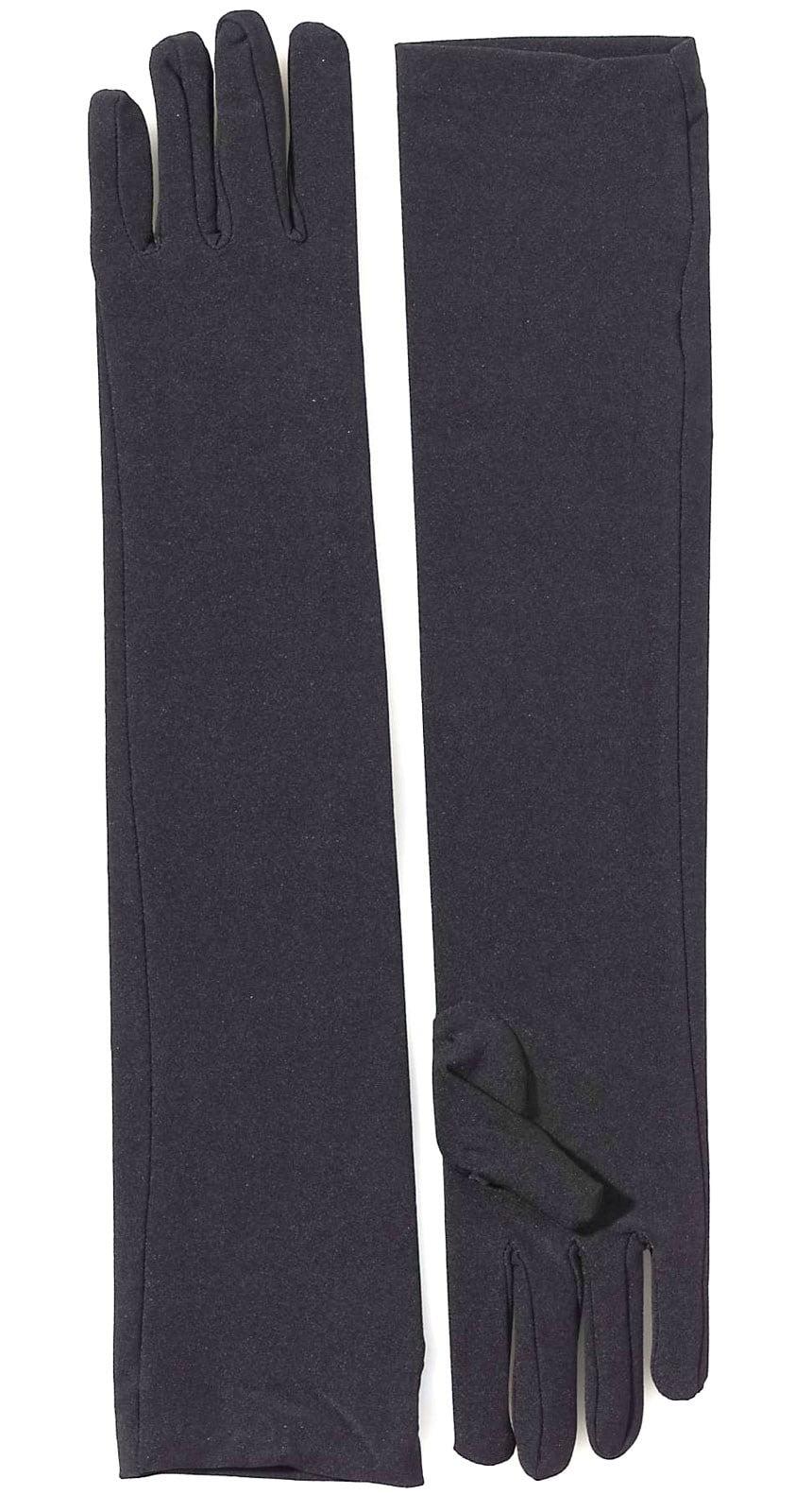 1ee90d1381593 Classic/Everyday - Black Long Nylon Adult Gloves - Walmart.com