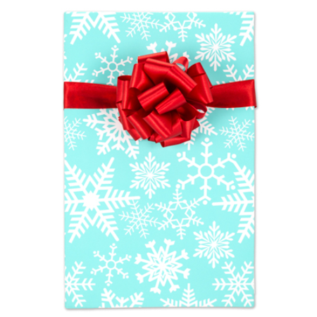 Aqua Blue Snowflakes Elegant Specialty Gift Wrap Wrappiing Paper 24 x 15ft](Wrapping Paper Blue)