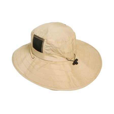 e7b96a470fdad Simplicity Sun UV Protection Wide Brim Safari Hat w  Drawstring Cord  Khaki-NB004 - Walmart.com