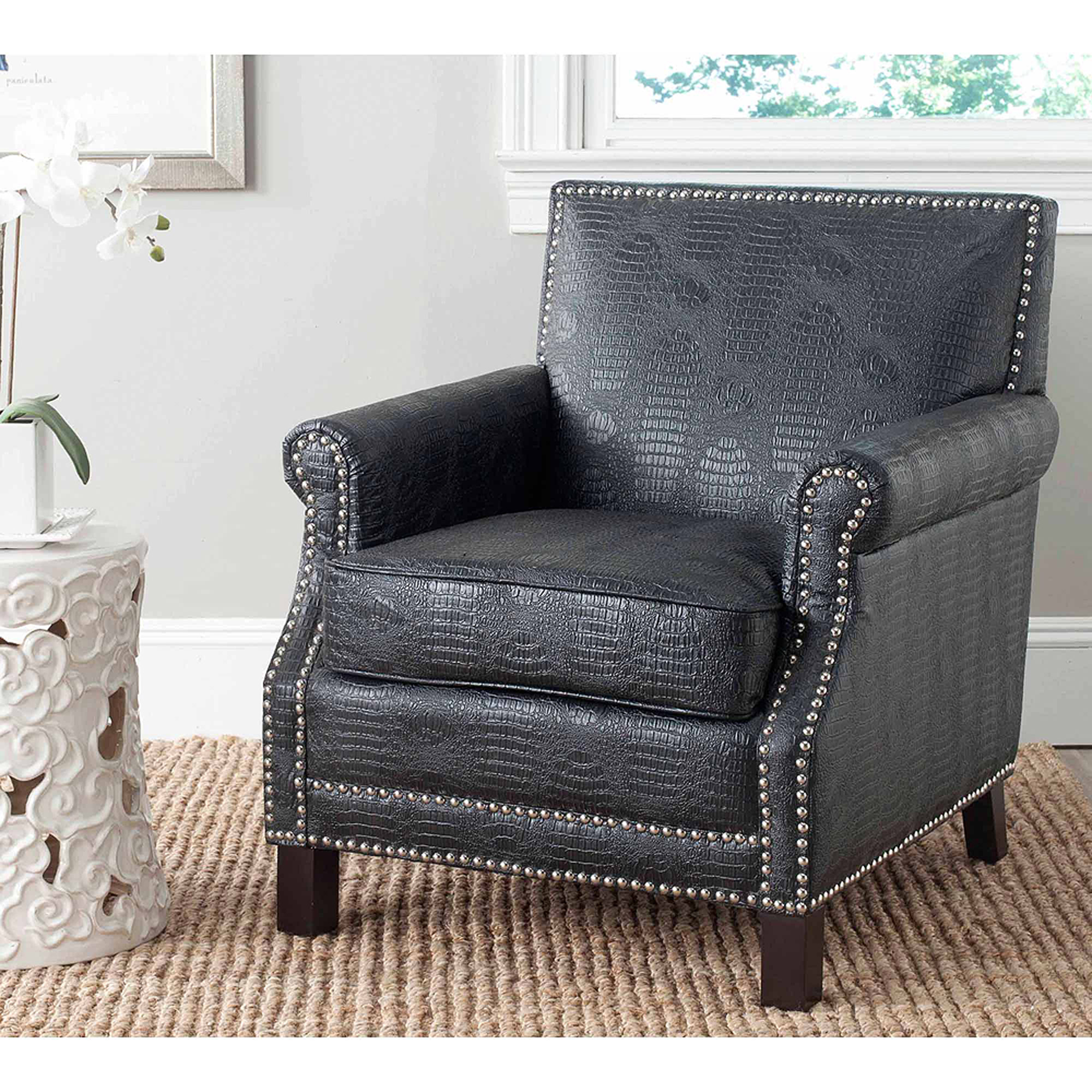 Safavieh Easton Bicast Leather Club Chair, Multiple Colors by Safavieh