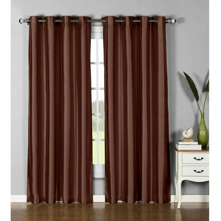 Jane Faux Silk Grommet Curtain Panels