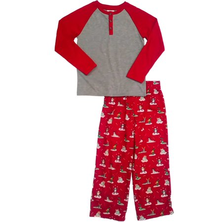 c6fb88d370d Little Boys Yak Seal Sloth Alligator Pajama Set Christmas Holiday Sleep Set
