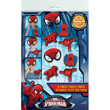 Spiderman Photo Booth Props, 8pc - Spider Man Decorations