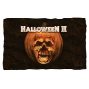 Halloween II Poster Sub Fleece Throw Blanket White One Size