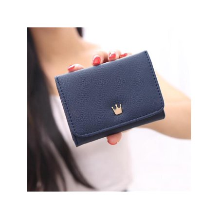 Meigar Women Lady Crown Short Mini Money Wallet Fold Bag Coin Purse Card Holder Wallets