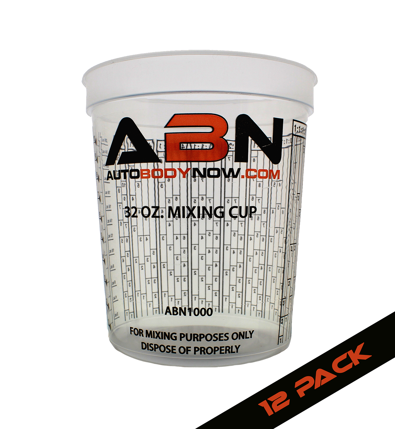 by Custom Shop Cups have calibrated mixing ratios on side of cup BOX OF 100 Cups Full Case of 100 each - 32 Ounce PAINT MIXING CUPS