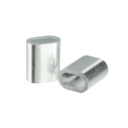 4mm 5/32-inch Cable Wire Rope Aluminum Oval Sleeves Clips Crimping Loops 25pcs