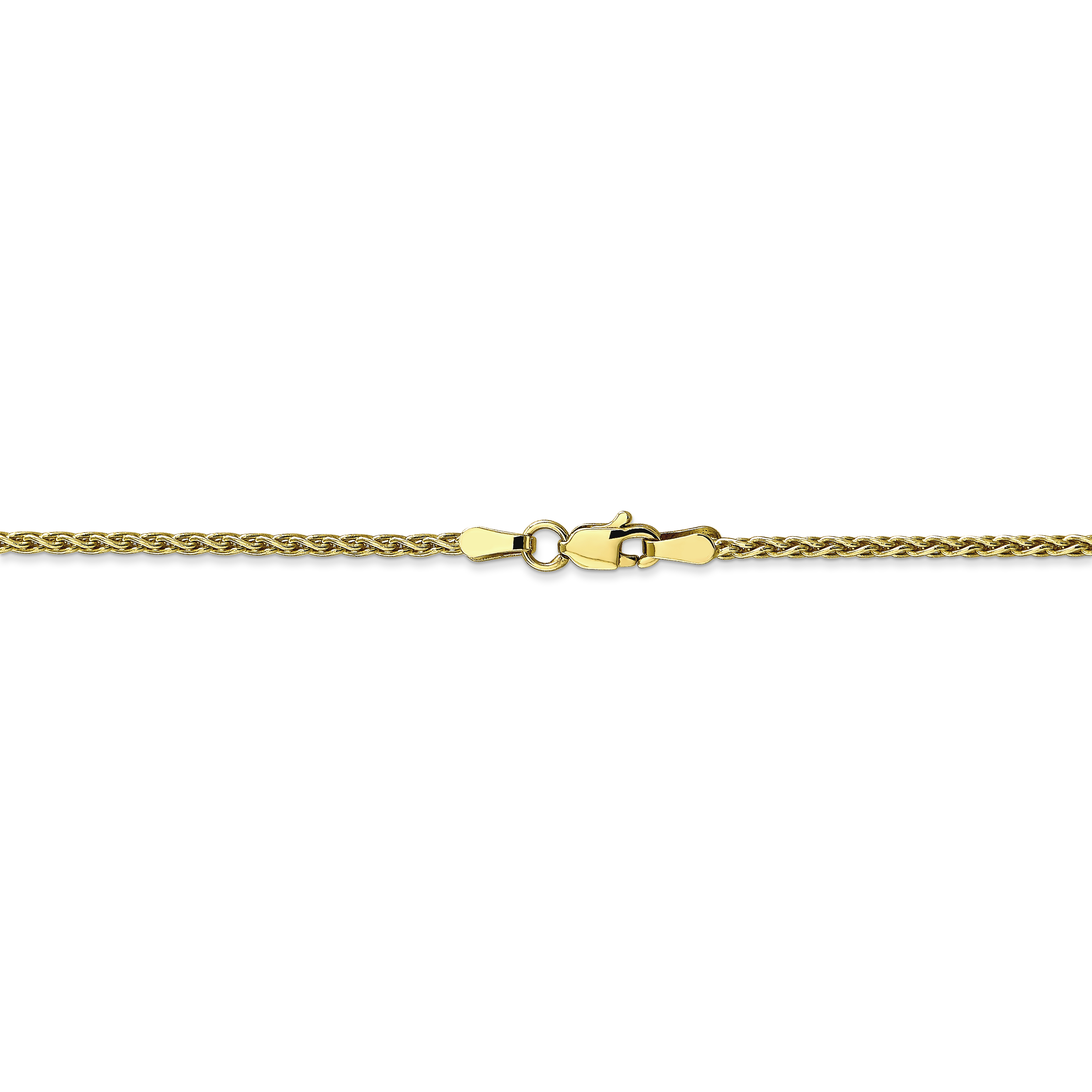10k Yellow Gold 1.75mm Parisian Link Wheat Necklace Chain Pendant Charm Spiga Fine Jewelry Gifts For Women For Her - image 3 de 4
