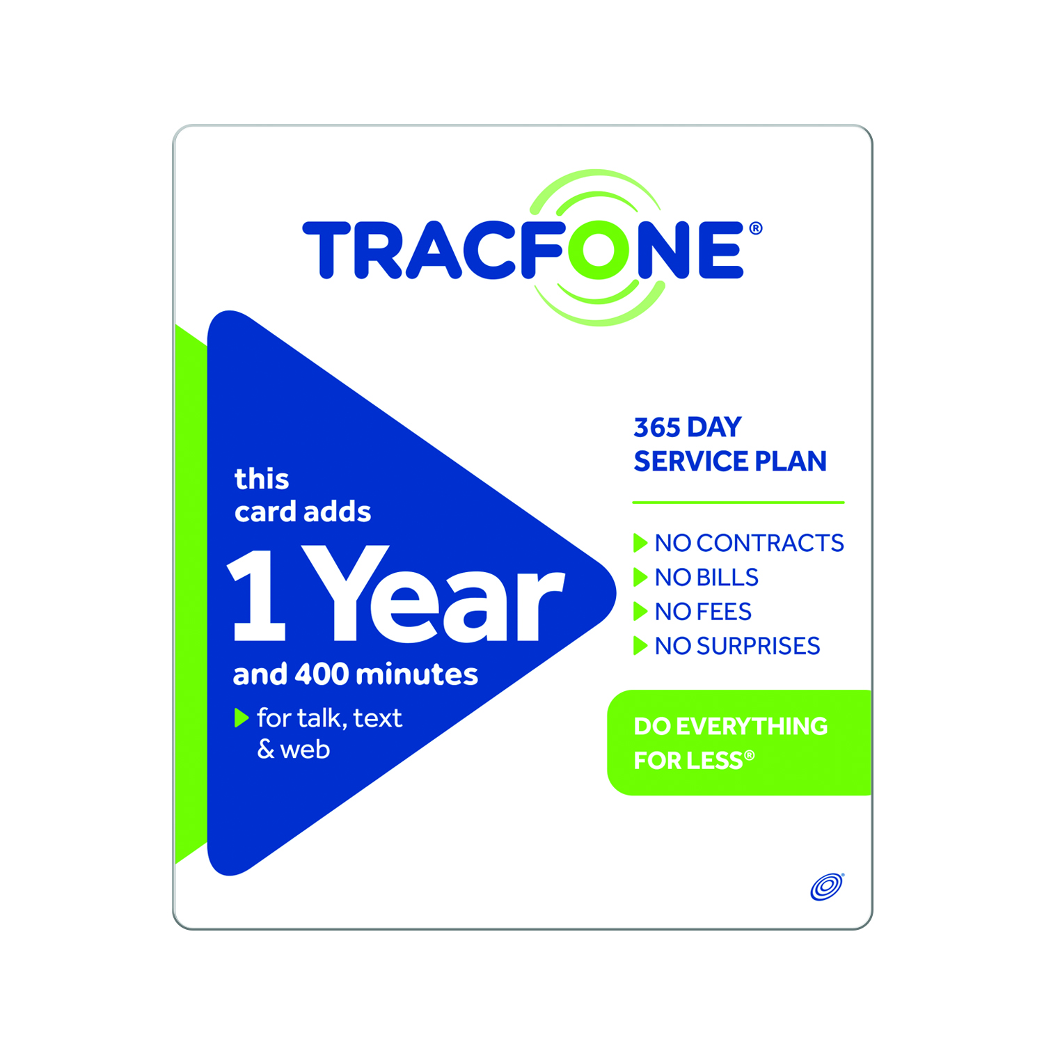 (Email Delivery) TracFone 400 Minutes/1 year $99.99