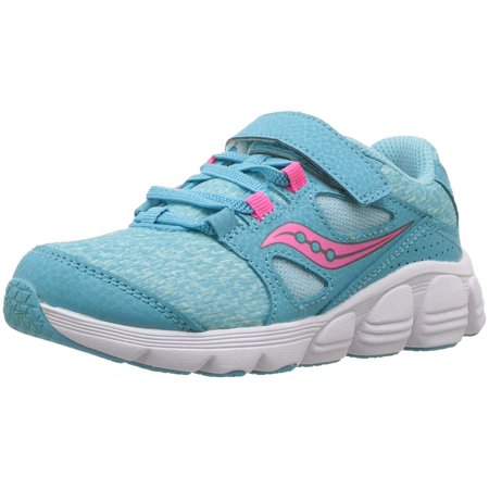 Saucony Kotaro 4 A/C Turquoise / Pink Ankle-High Mesh Running Shoe - 6.5M (Saucony Kids Shoes)