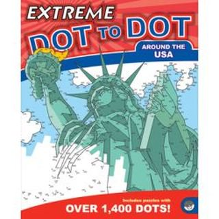 Around The Usa Extreme Dot To Dot Drawing/coloring - Extreme Dot To Dots