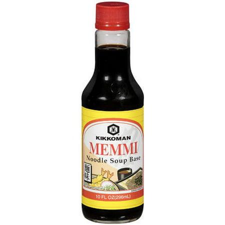 (3 Pack) Kikkoman Noodle Soup Base Memmi, 10 fl oz
