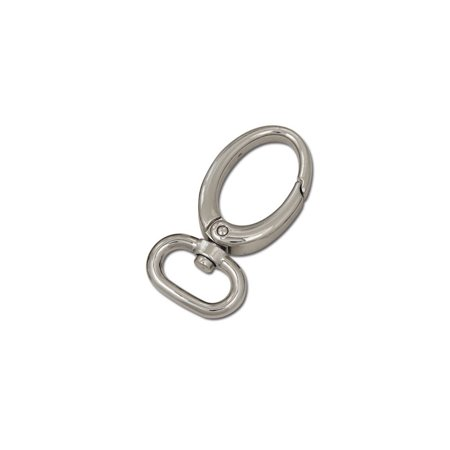 """Tandy Leather Oval Spring Snap 3/4"""" Nickel Plate 11411-02"""