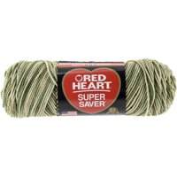 Red Heart Super Saver Desert Camouflage Yarn, 1 Each