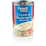 (10 Pack) Great Value Cream Of Mushroom Condensed Soup, 10.5 oz