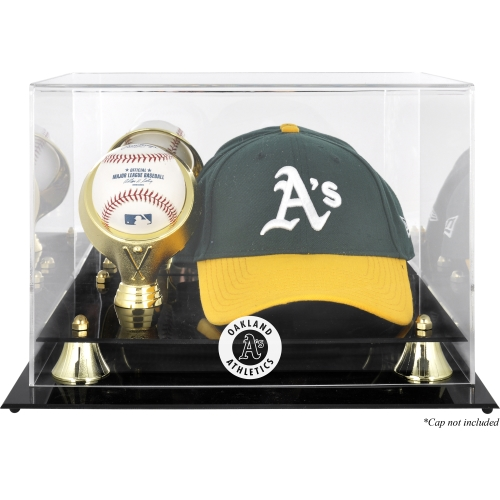 Oakland Athletics Acrylic Cap and Baseball Logo Display Case