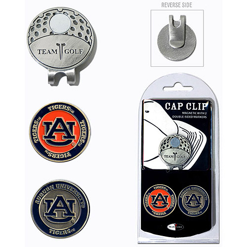 Team Golf NCAA Auburn Cap Clip With 2 Golf Ball Markers