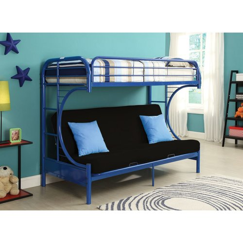 Zoomie Kids Hiett Twin Over Full Futon Bunk Bed