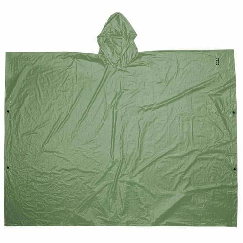 Custom Leathercraft Green PVC Poncho by Custom Leathercraft