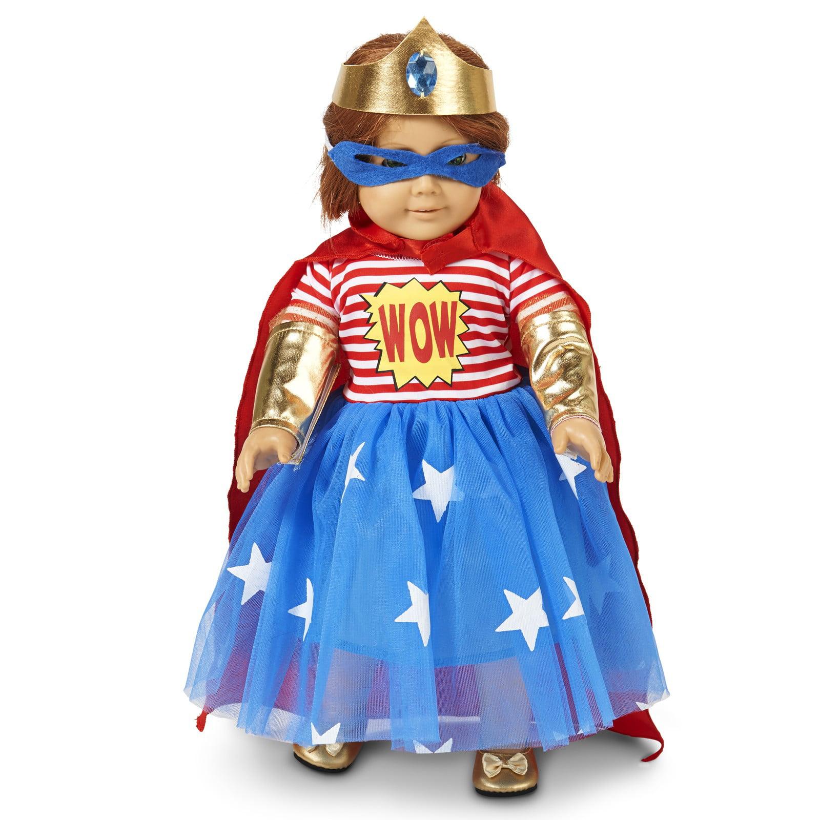 "Pop Art Comic Superhero Girl 18"" Doll Costume"