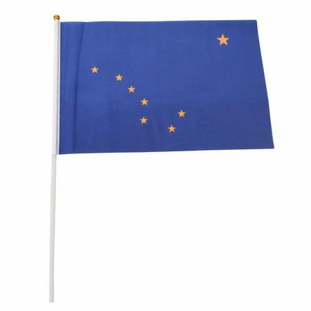 Alaska State 12-Pack 4x6 Inch Hand Waving Desk Flags -